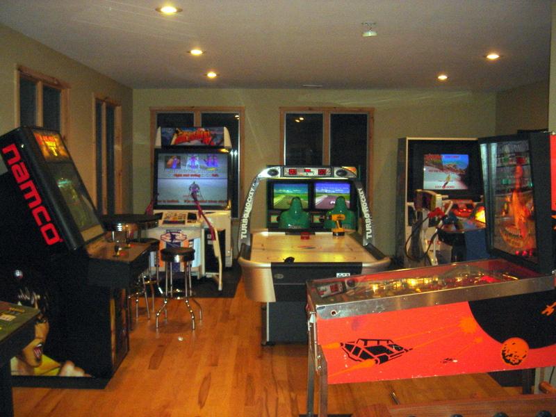 Arcade at night